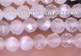 CTG1601 15.5 inches 3mm faceted round tiny white moonstone beads