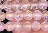 CTG1629 15.5 inches 5mm faceted round tiny golden rutilated quartz beads