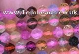 CTG1658 15.5 inches 2.5mm faceted round tiny tourmaline beads
