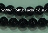 CTG21 15.5 inches 6mm round B grade black agate beads wholesale