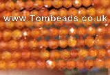 CTG2108 15 inches 2mm faceted round tiny quartz glass beads