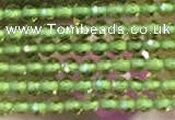 CTG2115 15 inches 2mm faceted round tiny quartz glass beads