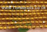 CTG2116 15 inches 2mm faceted round tiny quartz glass beads