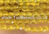 CTG2120 15 inches 2mm,3mm faceted round yellow agate gemstone beads