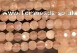 CTG2138 15 inches 2mm,3mm faceted round sunstone gemstone beads