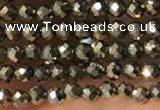 CTG2146 15 inches 2mm,3mm & 4mm faceted round pyrite gemstone beads
