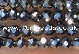 CTG2147 15 inches 2mm,3mm & 4mm faceted round terahertz gemstone beads