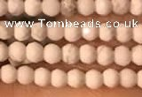 CTG2148 15 inches 2mm,3mm & 4mm faceted round white howlite beads
