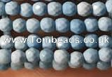 CTG2150 15 inches 2mm,3mm faceted round synthetic turquoise beads
