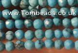 CTG2151 15 inches 2mm,3mm faceted round synthetic turquoise beads