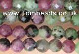 CTG2183 15 inches 2mm,3mm faceted round ruby zoisite beads