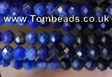 CTG2241 15 inches 2mm faceted round natural lapis lazuli beads