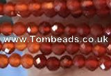 CTG2243 15 inches 2mm faceted round red agate beads