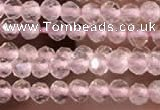 CTG2248 15 inches 2mm faceted round rose quartz beads