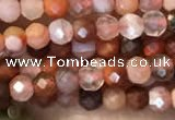 CTG2253 15 inches 2mm faceted round south red agate beads