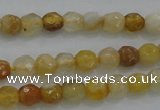 CTG226 15.5 inches 3mm faceted round tiny yellow botswana agate beads