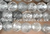 CTG2505 15.5 inches 4mm faceted round cloudy quartz beads