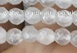 CTG2515 15.5 inches 4mm faceted round white jade beads wholesale