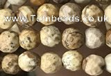 CTG3549 15.5 inches 4mm faceted round picture jasper beads