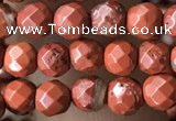 CTG3554 15.5 inches 4mm faceted round red jasper beads