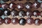 CTG3593 15.5 inches 4mm faceted round garnet beads wholesale