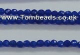 CTG412 15.5 inches 2mm faceted round tiny dyed candy jade beads