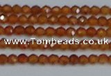 CTG616 15.5 inches 3mm faceted round orange garnet beads