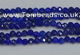 CTG649 15.5 inches 2mm faceted round lapis lazuli gemstone beads