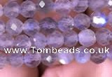 CTG703 15.5 inches 5mm faceted round tiny labradorite beads