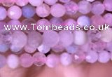 CTG711 15.5 inches 3mm faceted round tiny morganite beads