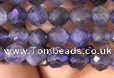 CTG756 15.5 inches 5mm faceted round tiny iolite gemstone beads