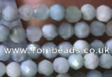 CTG769 15.5 inches 3mm faceted round tiny larimar gemstone beads