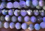 CTG776 15.5 inches 4mm faceted round tiny amazonite beads wholesale