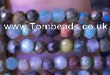 CTG791 15.5 inches 3mm faceted round tiny chrysocolla beads
