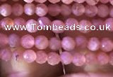 CTG810 15.5 inches 2mm faceted round tiny rhodochrosite beads