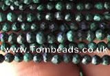 CTG829 15.5 inches 2mm faceted round tiny malachite beads