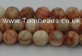 CTJ701 15.5 inches 6mm round red net jasper beads wholesale