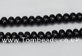 CTO118 15.5 inches 6*10mm rondelle black tourmaline beads