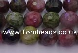 CTO636 15.5 inches 8mm faceted round tourmaline gemstone beads
