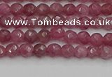 CTO656 15.5 inches 4mm faceted round Chinese tourmaline beads