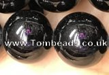CTO705 15.5 inches 14mm round black tourmaline beads wholesale