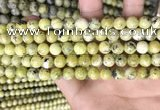 CTP222 15.5 inches 8mm round yellow turquoise beads wholesale