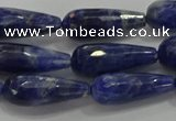 CTR112 15.5 inches 8*20mm faceted teardrop sodalite beads
