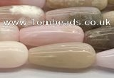 CTR150 15.5 inches 6*16mm teardrop natural pink opal beads