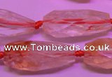 CTR201 15*30mm - 18*45mm faceted teardrop citrine gemstone beads