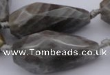 CTR214 15.5 inches 15*25mm - 16*40mm faceted teardrop labradorite beads