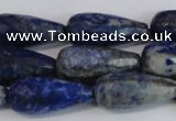 CTR303 15.5 inches 12*25mm faceted teardrop lapis lazuli beads