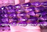 CTR306 15.5 inches 10*25mm faceted teardrop dogtooth amethyst beads