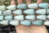 CTR358 15.5 inches 15*25mm faceted teardrop amazonite beads