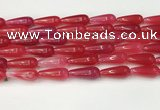 CTR403 15.5 inches 8*20mm teardrop agate beads wholesale